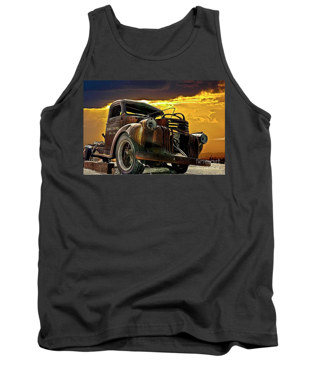 Truck Tank Top featuring the photograph A36 by Tom Griffithe