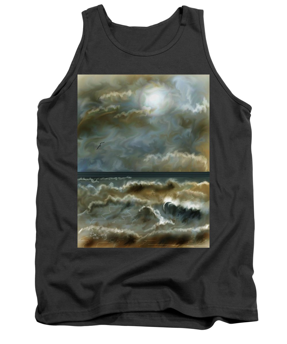 Seascape Tank Top featuring the painting After The Squall by Anne Norskog