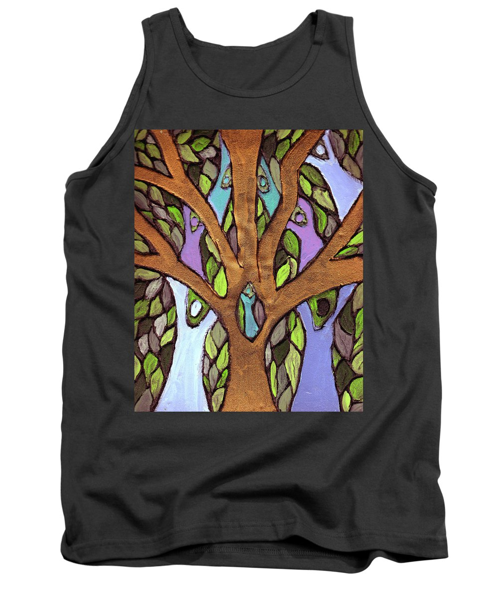 Family Tank Top featuring the painting All For One by Wayne Potrafka