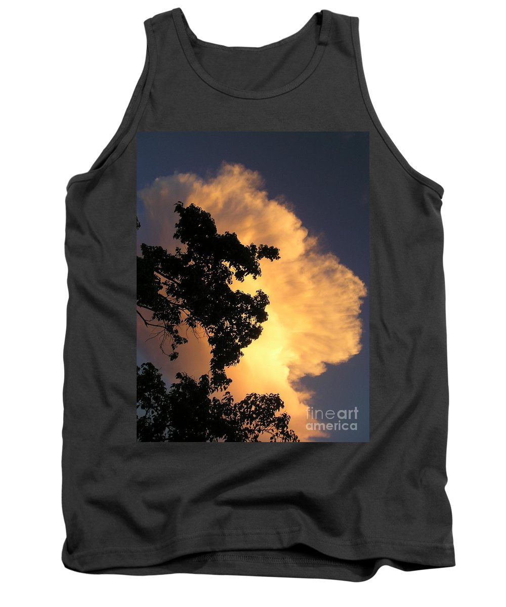 Clouds Tank Top featuring the photograph August Thunder by Maria Bonnier-Perez