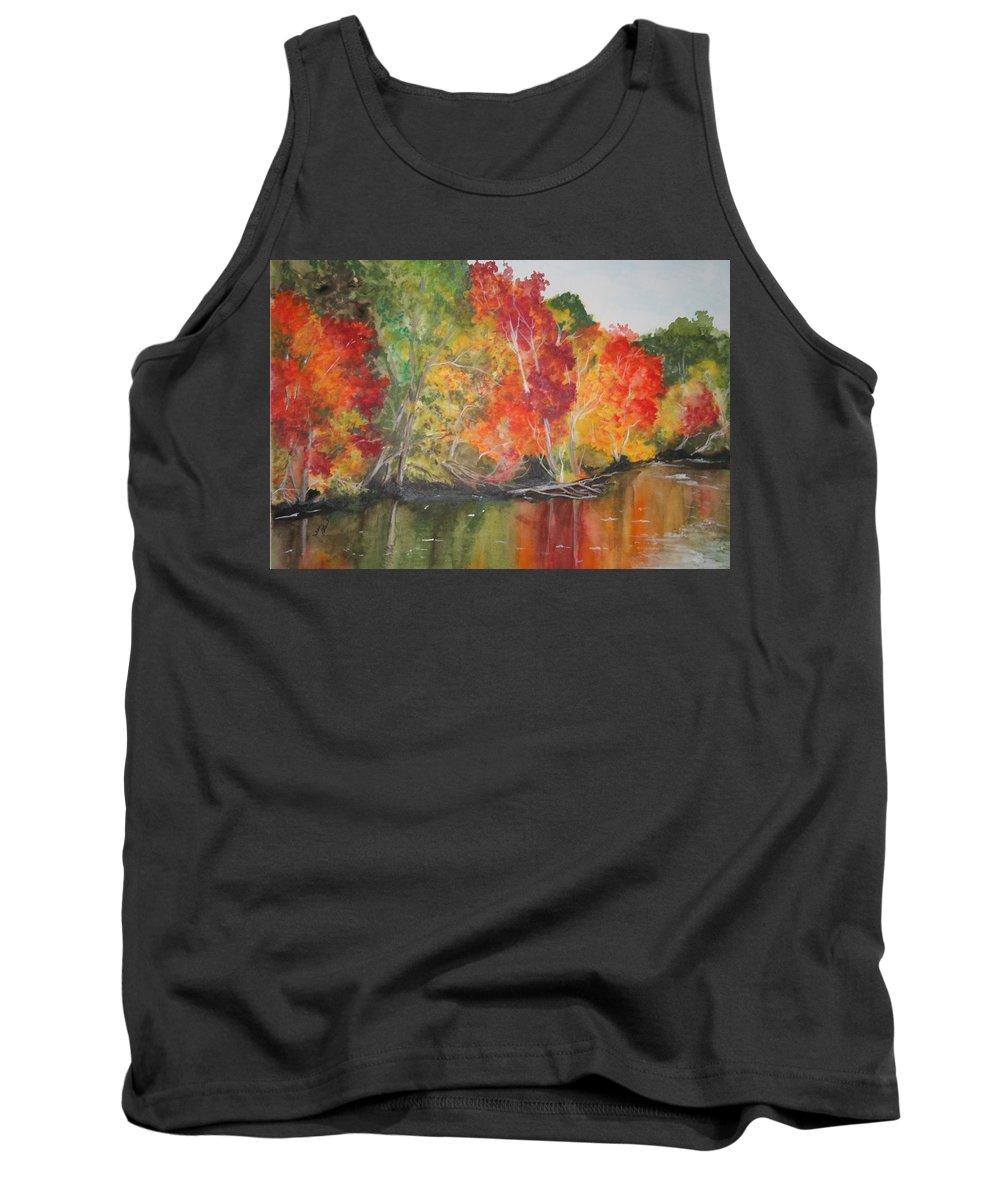 Autumn Tank Top featuring the painting Autumn Splendor by Jean Blackmer