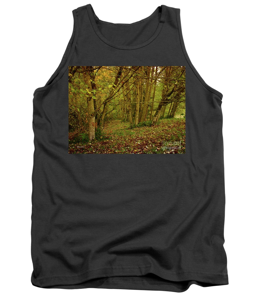 Forest Tank Top featuring the photograph Autumn Woodland by Shari Nees