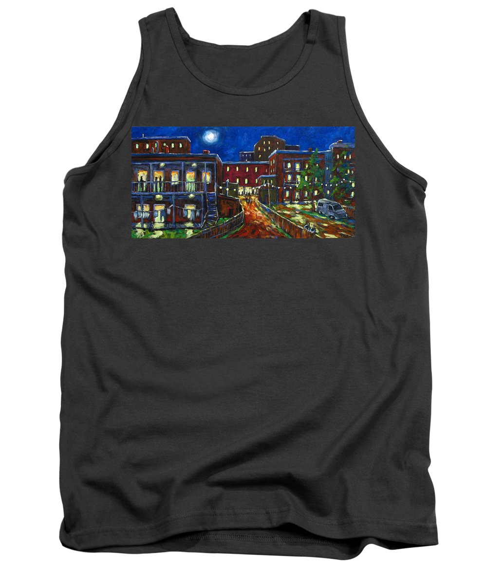 Town Tank Top featuring the painting Balconville by Richard T Pranke