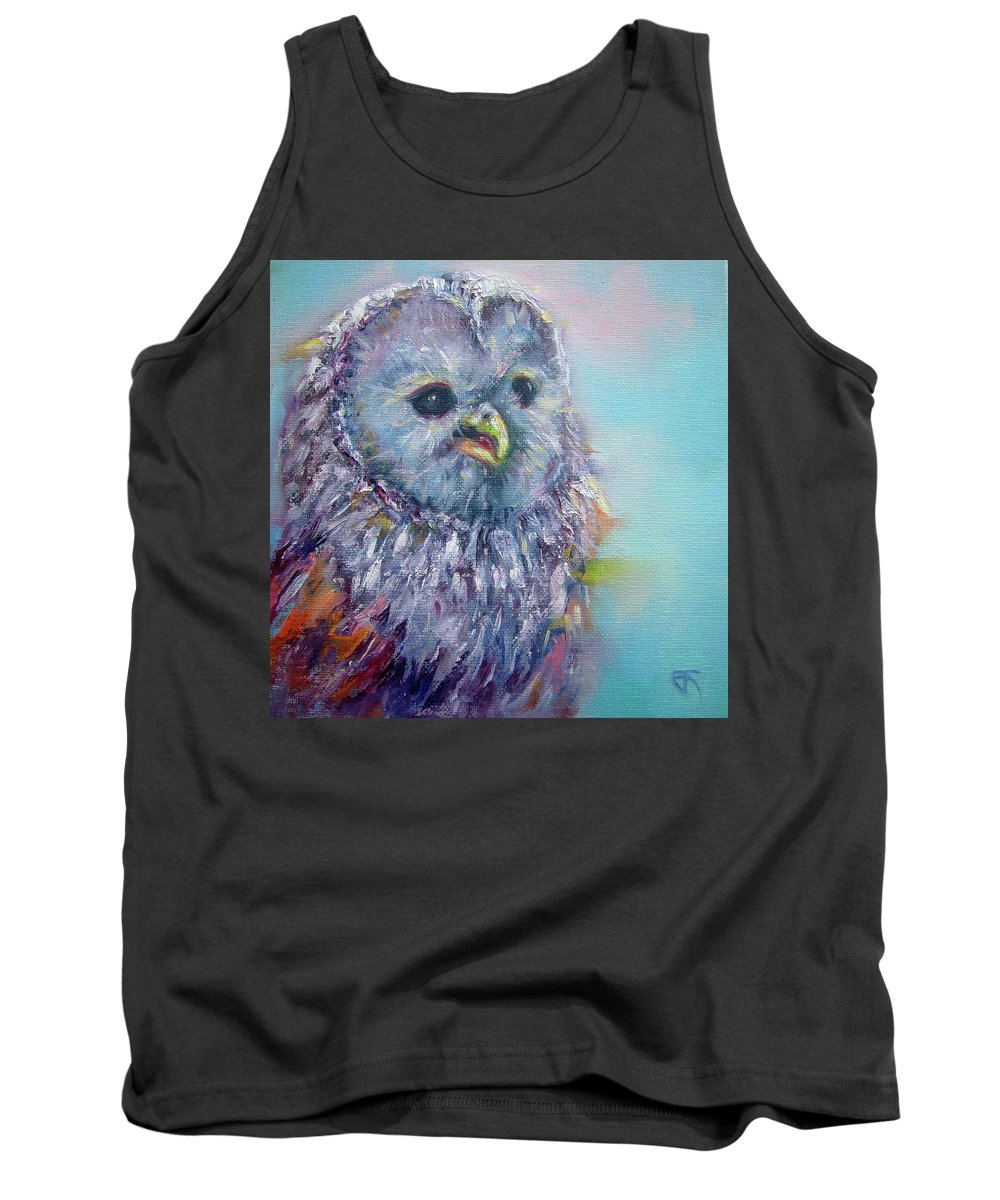 Tank Top featuring the painting Barn Owl by Jack No War