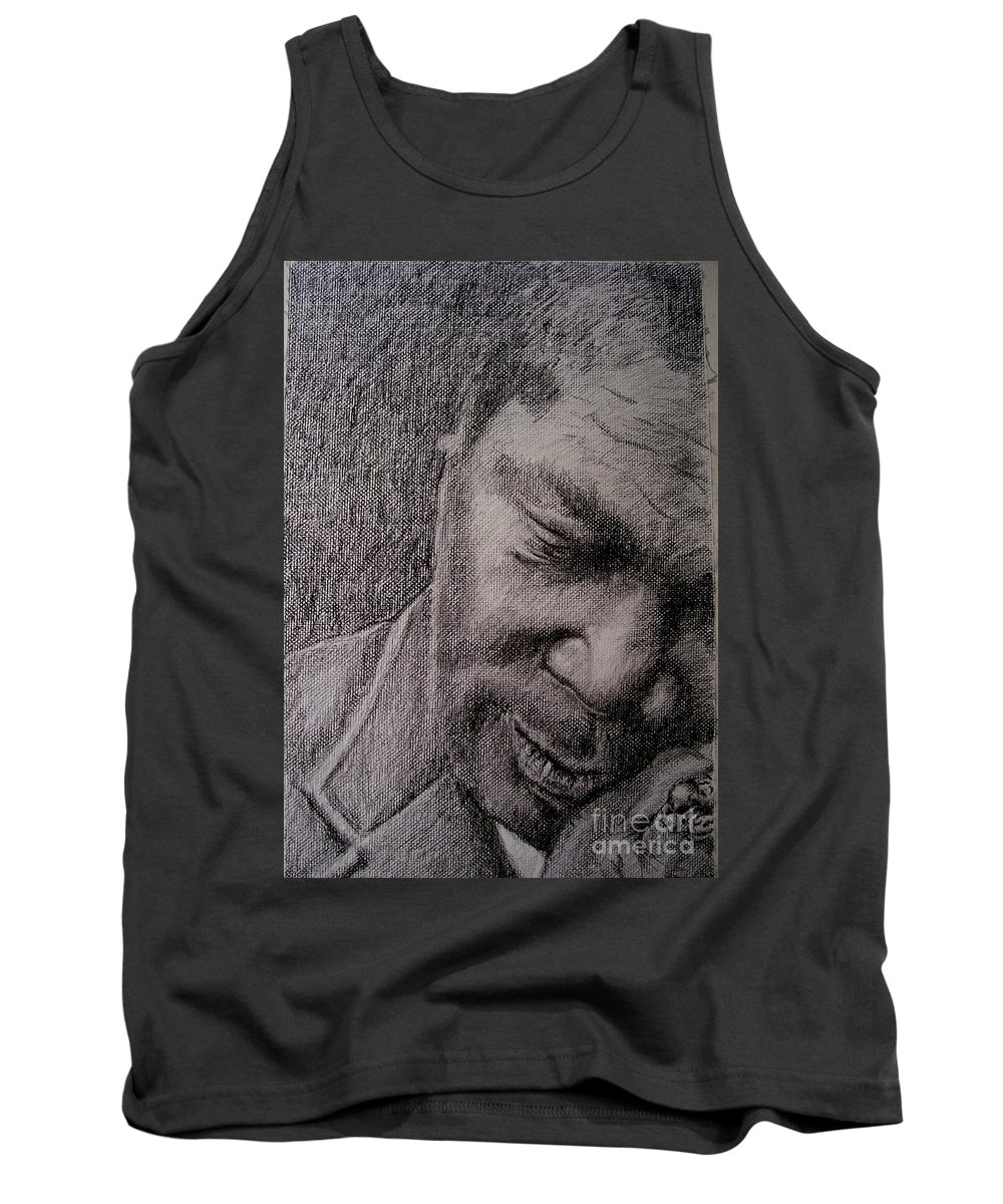 Bbking Tank Top featuring the painting Bbking by Frances Marino