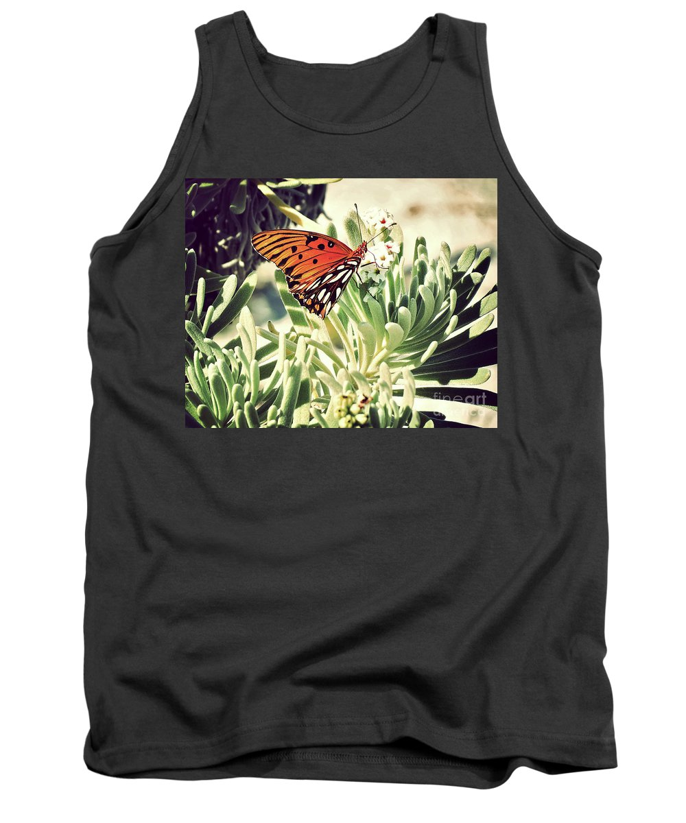Florida Tank Top featuring the photograph Beach Butterfly by Chris Andruskiewicz