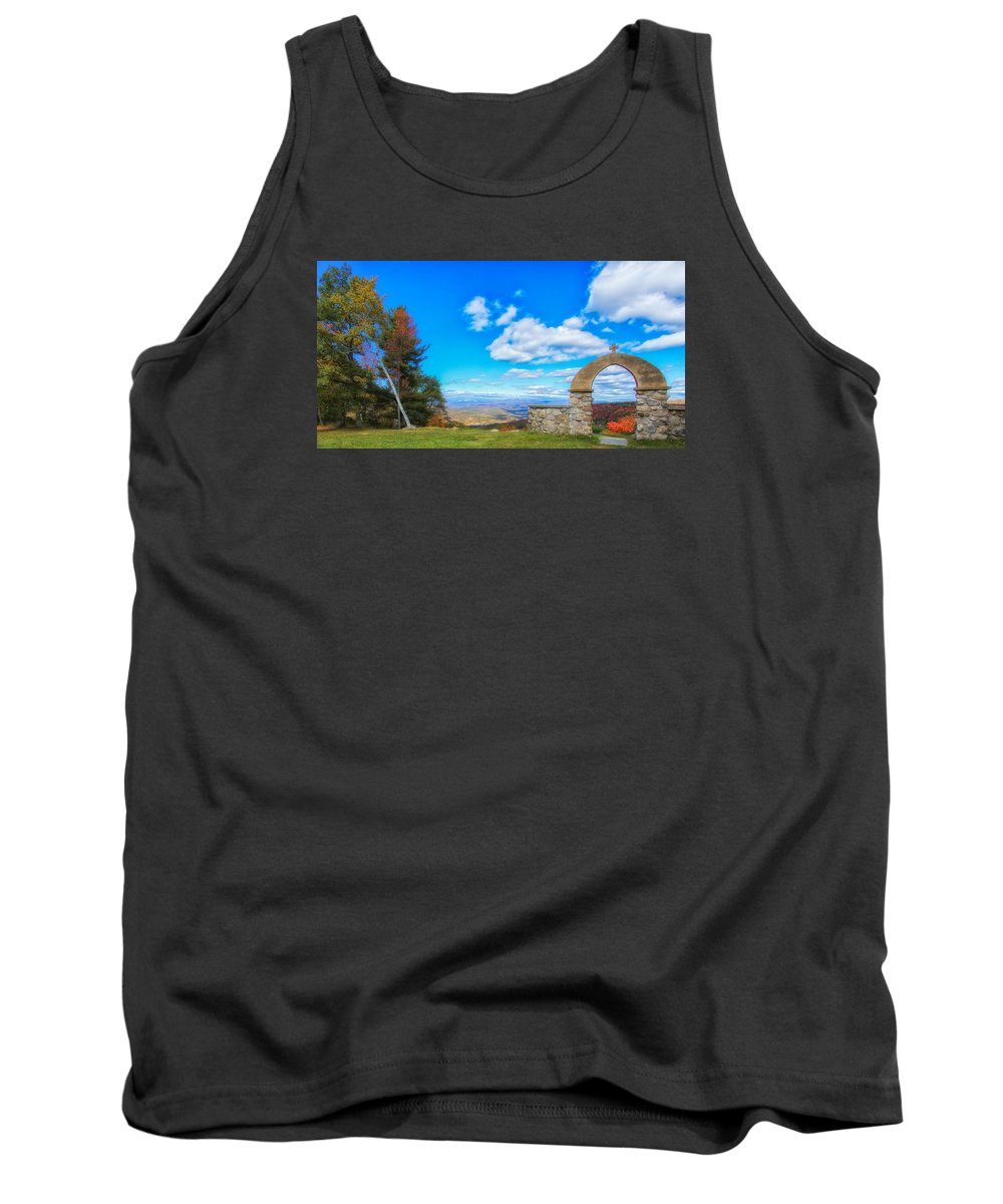 Chapel Of The Holy Name Tank Top featuring the photograph Beauty Found At The Arch by Rachel Snydstrup