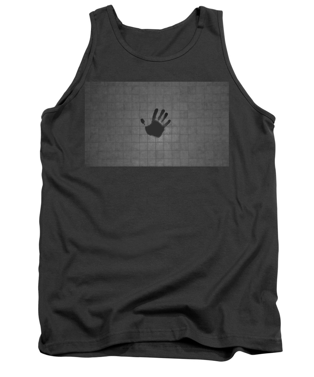 Hand Print Tank Top featuring the photograph Black Hand by Rob Hans