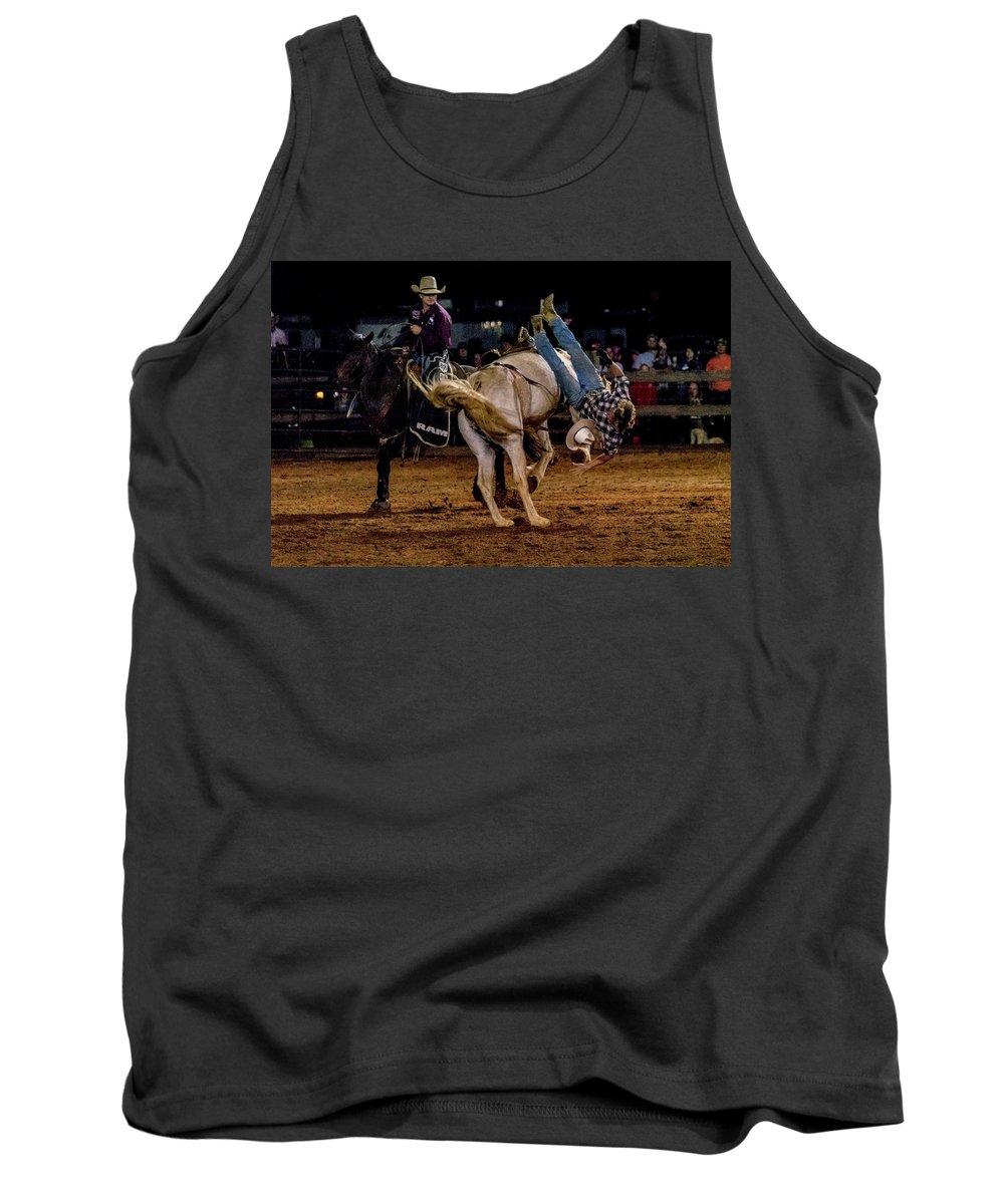 Horse Tank Top featuring the photograph Bronco Riding by Glenn Matthews