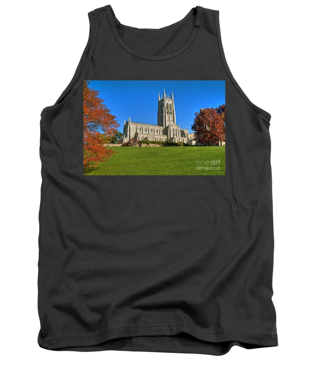 Bryn Athyn Cathedral Pennsylvania Church Tank Top featuring the photograph Bryn Athyn Cathedral Pennsylvania by David Zanzinger