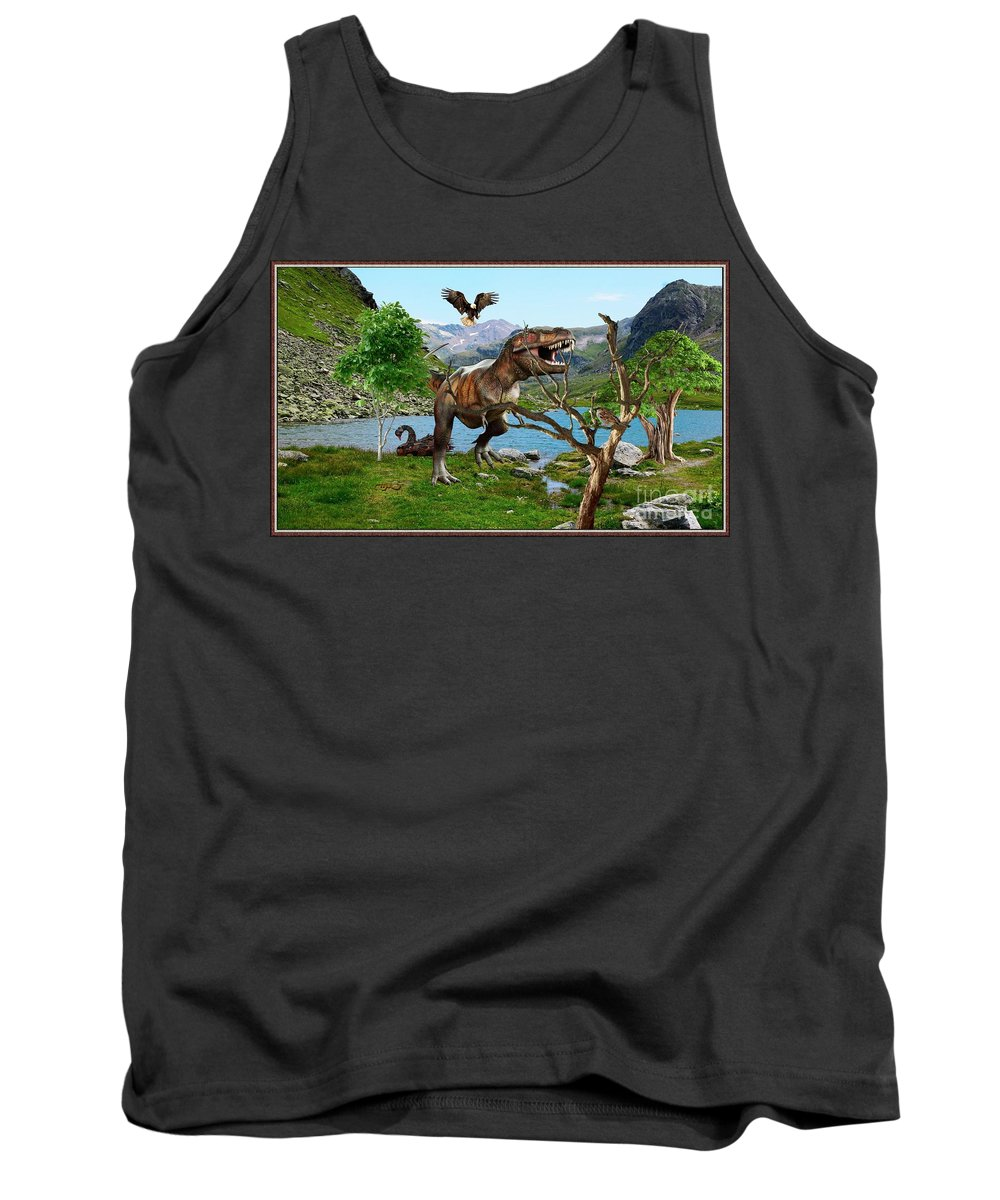 Modern Painting Tank Top featuring the mixed media By The Lake 6 by Pemaro