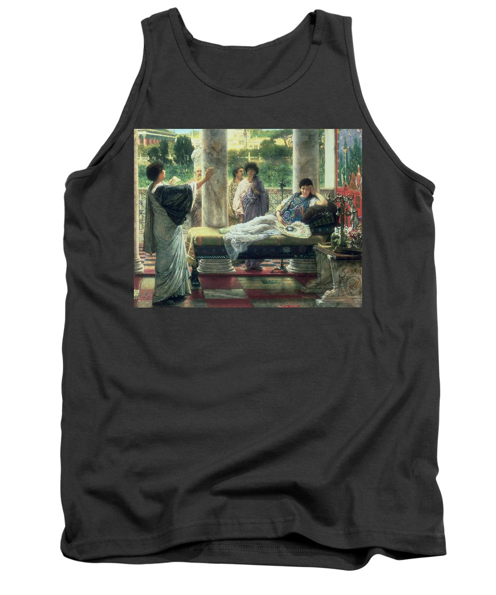 Catullus Tank Top featuring the painting Catullus Reading His Poems by Sir Lawrence Alma-Tadema