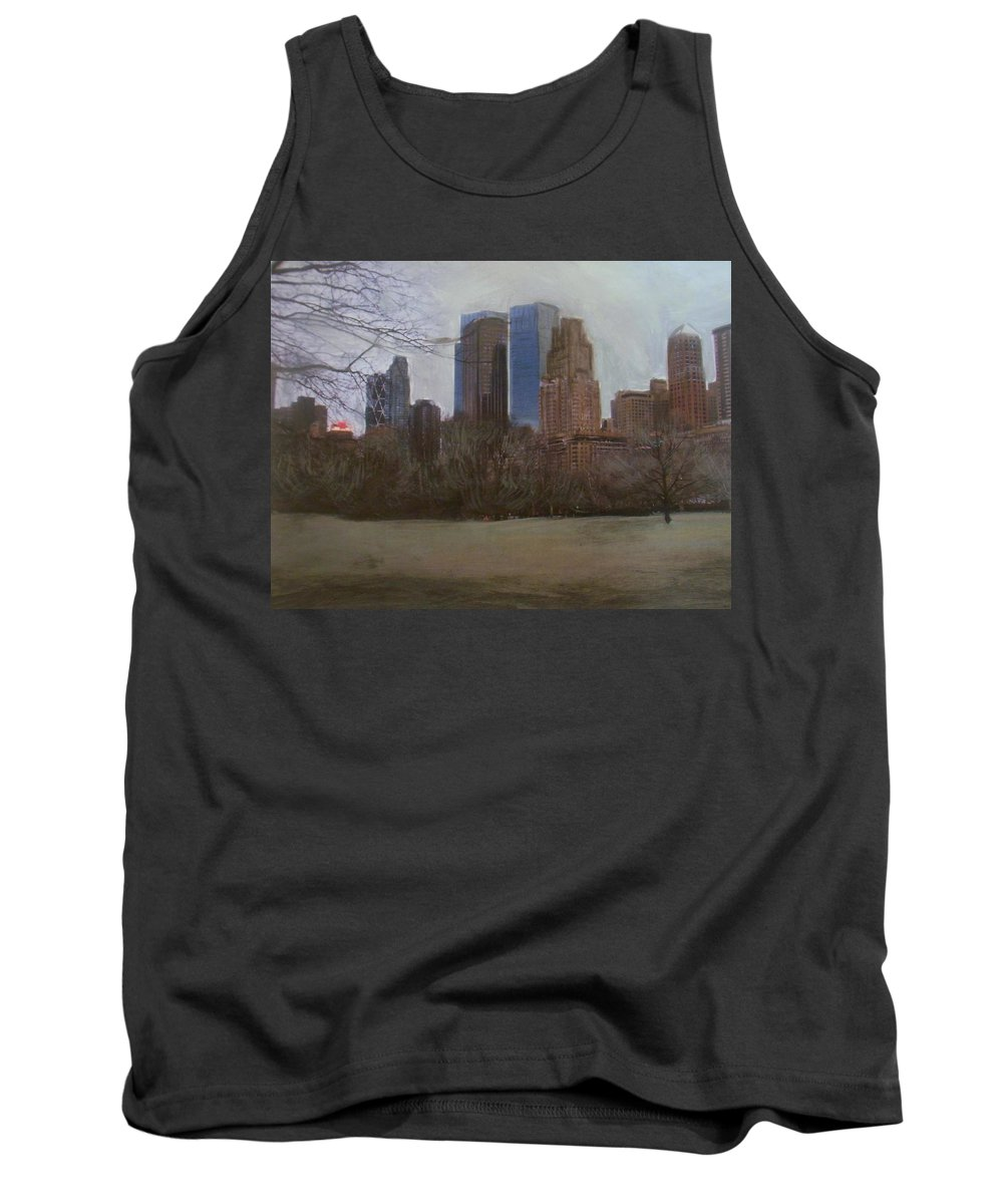 Central Park Tank Top featuring the painting Central Park by Anita Burgermeister