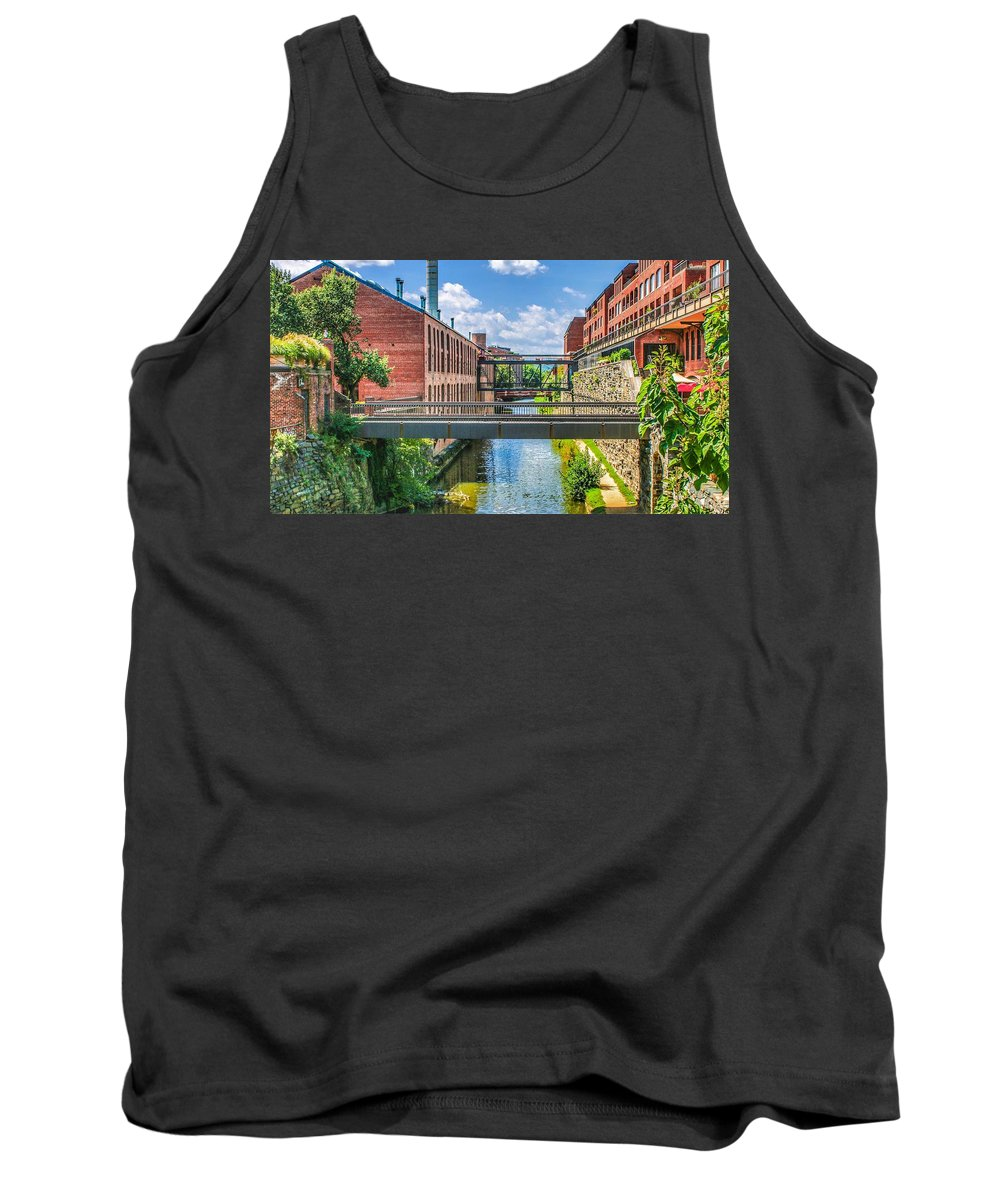 This A Photo Of The Chesapeake And Ohio Canal Tank Top featuring the photograph Chesapeake And Ohio Canal by William Rogers