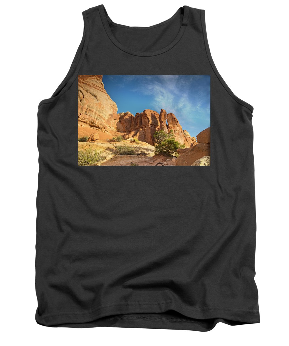 Canyonlands National Park Tank Top featuring the photograph Chesler Sunset by Kunal Mehra