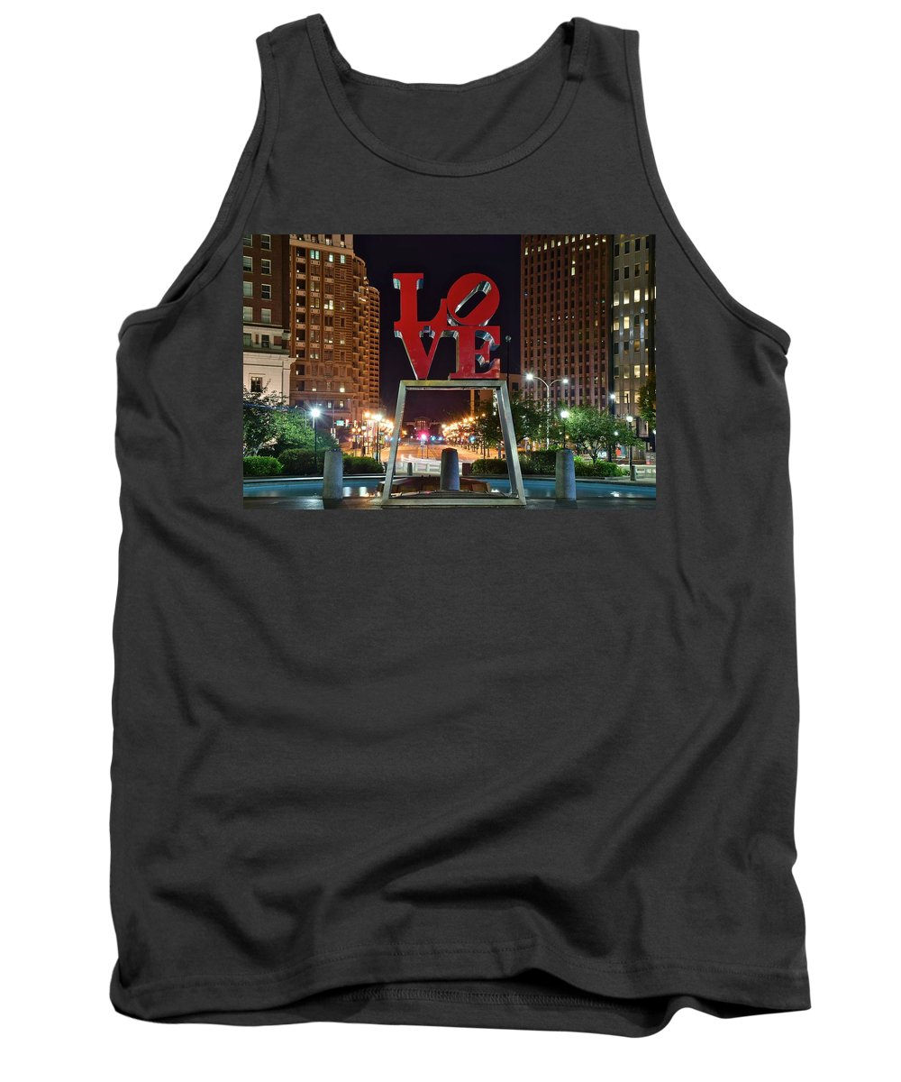 Love Tank Top featuring the photograph City Of Brotherly Love by Frozen in Time Fine Art Photography