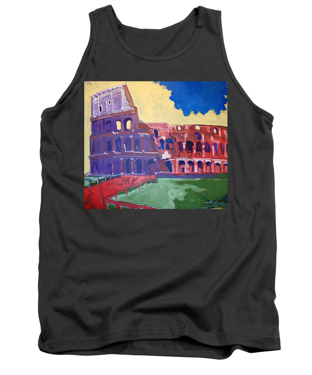 Rome Tank Top featuring the painting Colosseum by Kurt Hausmann