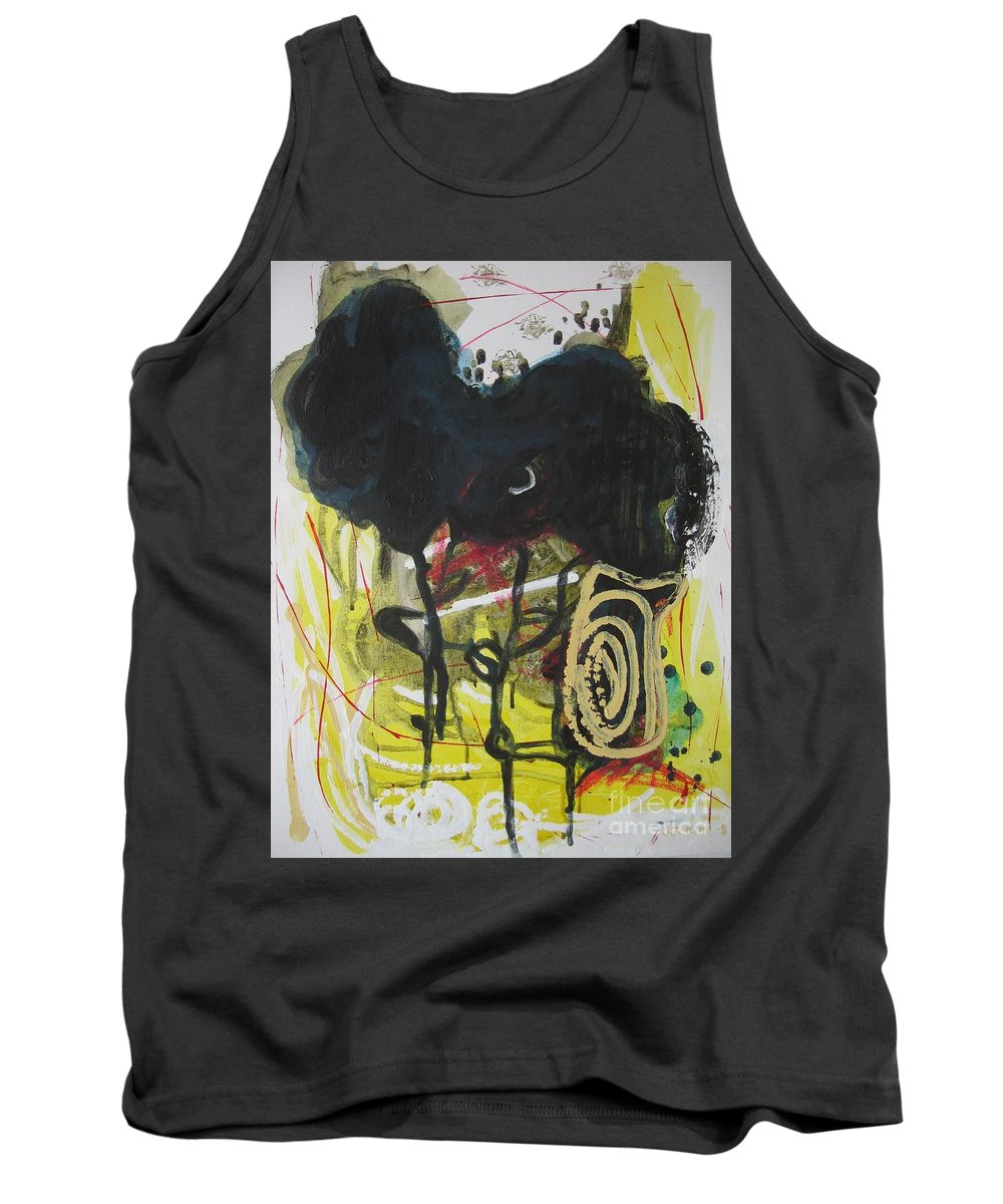 Abstract Paintings Tank Top featuring the painting Crescent2 by Seon-Jeong Kim