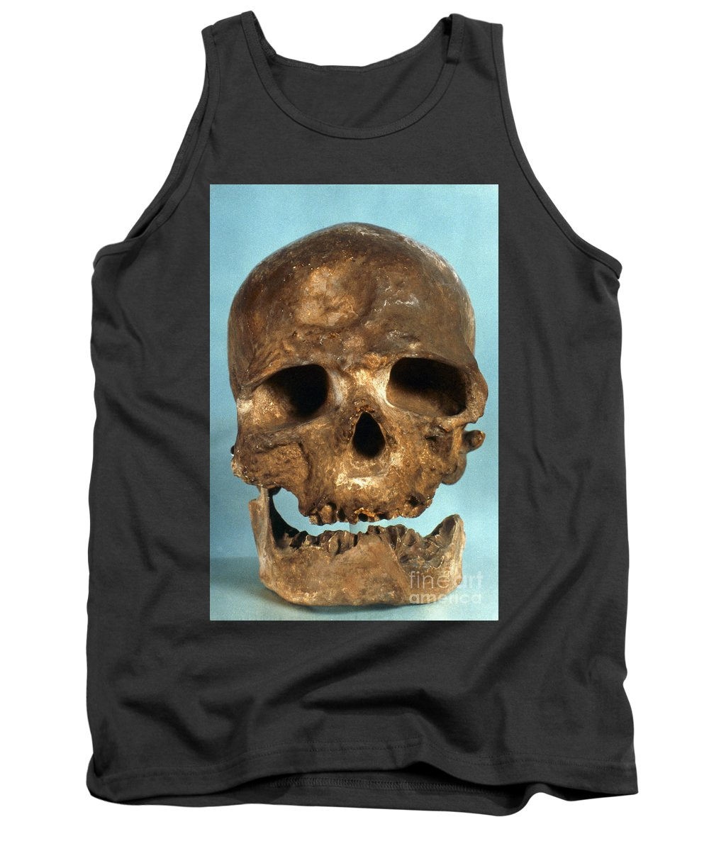 Artifact Tank Top featuring the photograph Cro-magnon Skull by Granger