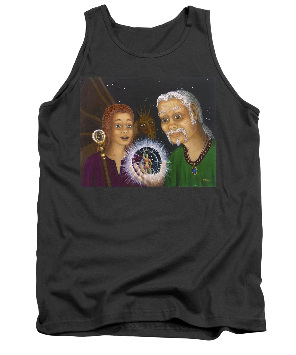 Fantasy Tank Top featuring the painting Crystal Ball by Roz Eve
