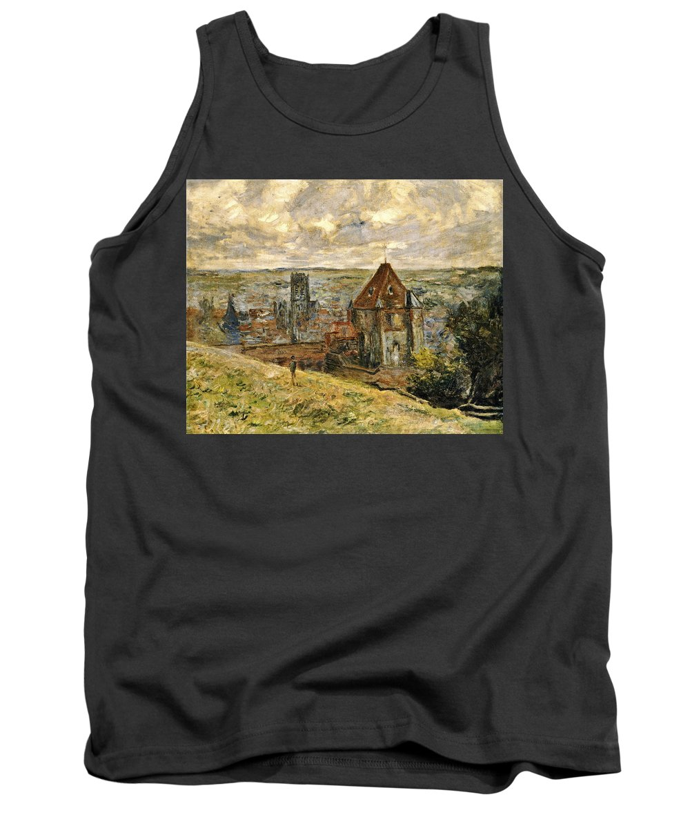Lake Tank Top featuring the painting Dieppe by Claude Monet