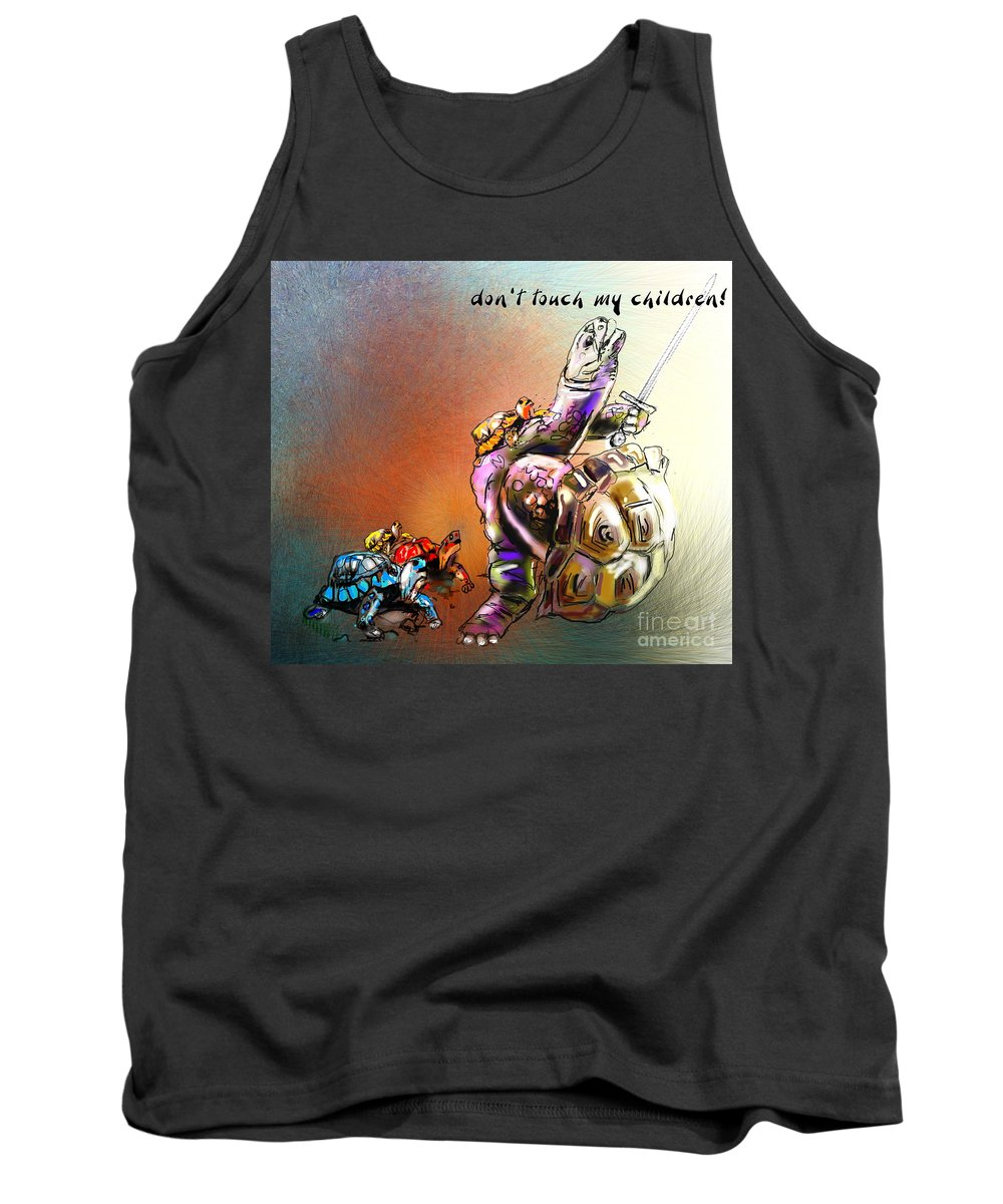 Turtle Painting Tank Top featuring the digital art Don by Miki De Goodaboom