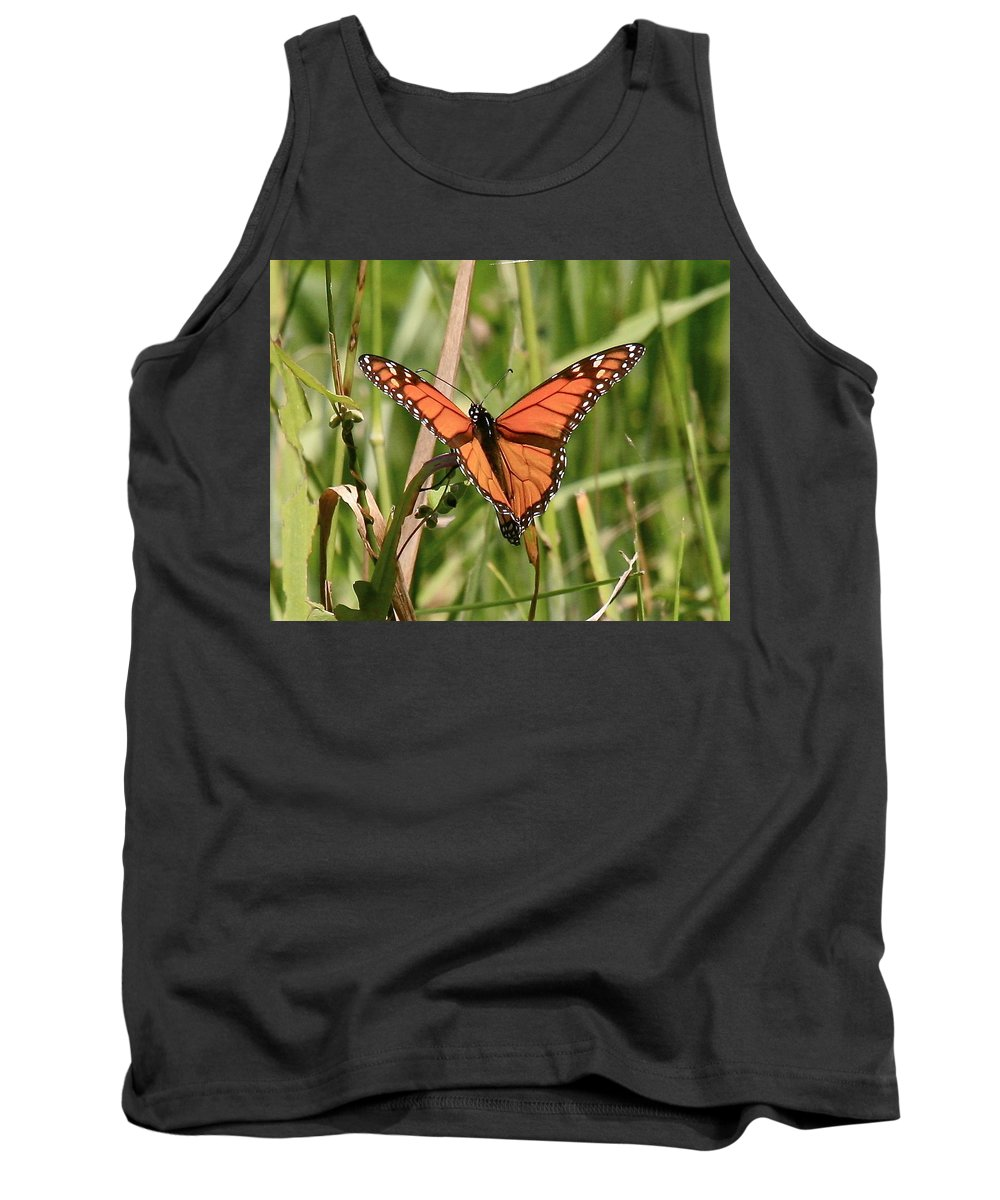 Butterfly Tank Top featuring the photograph Drying My Wings by Robert Pearson