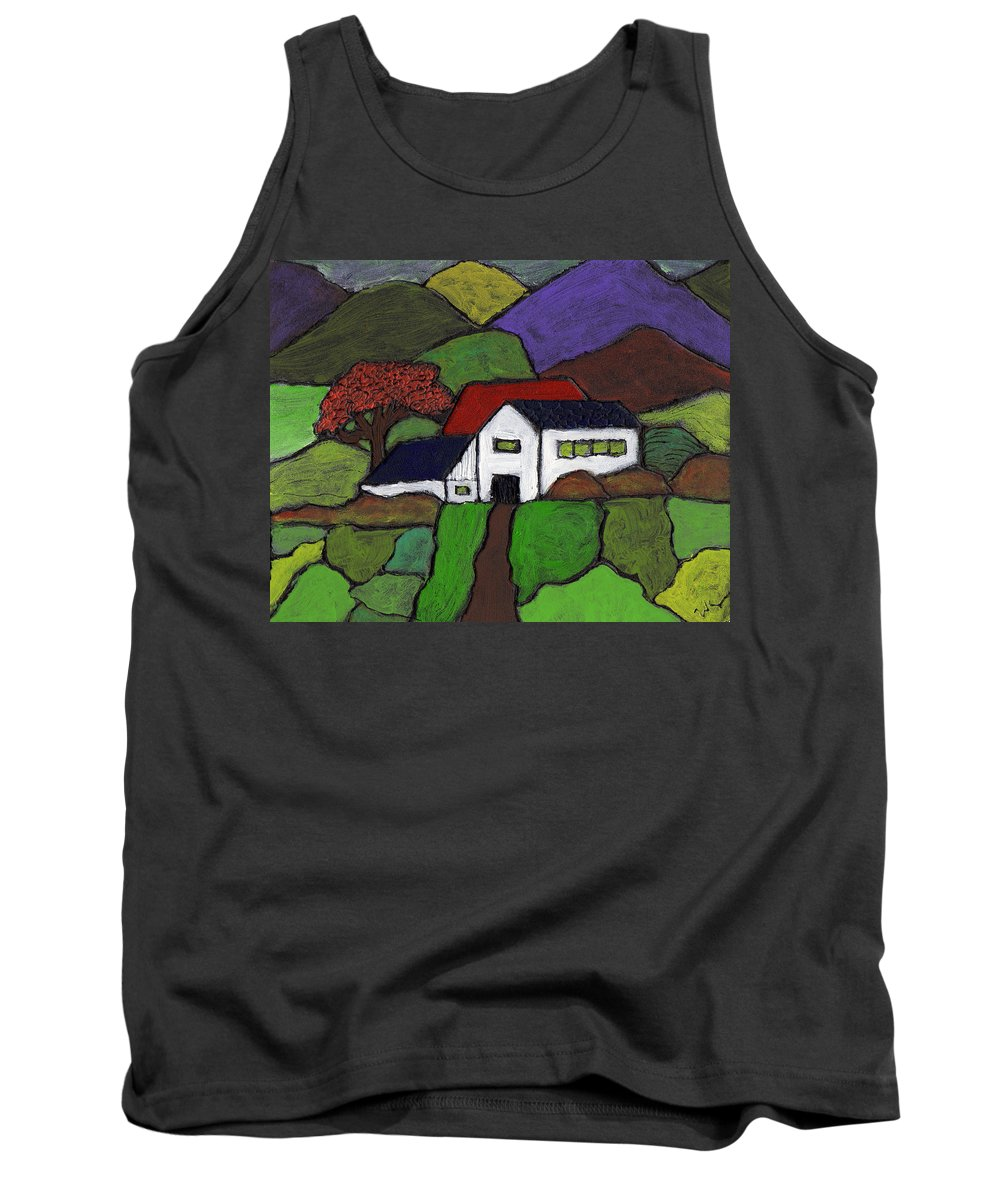 Rural Tank Top featuring the painting Early Autumn by Wayne Potrafka