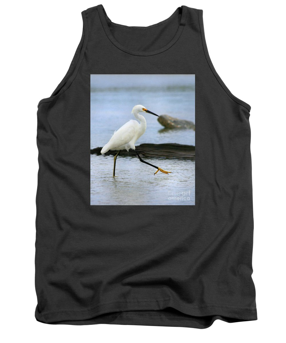 Tank Top featuring the photograph Egret Step by Angela Rath