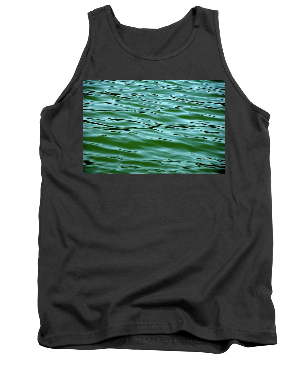 Water Tank Top featuring the photograph Emerald Sea by Donna Blackhall