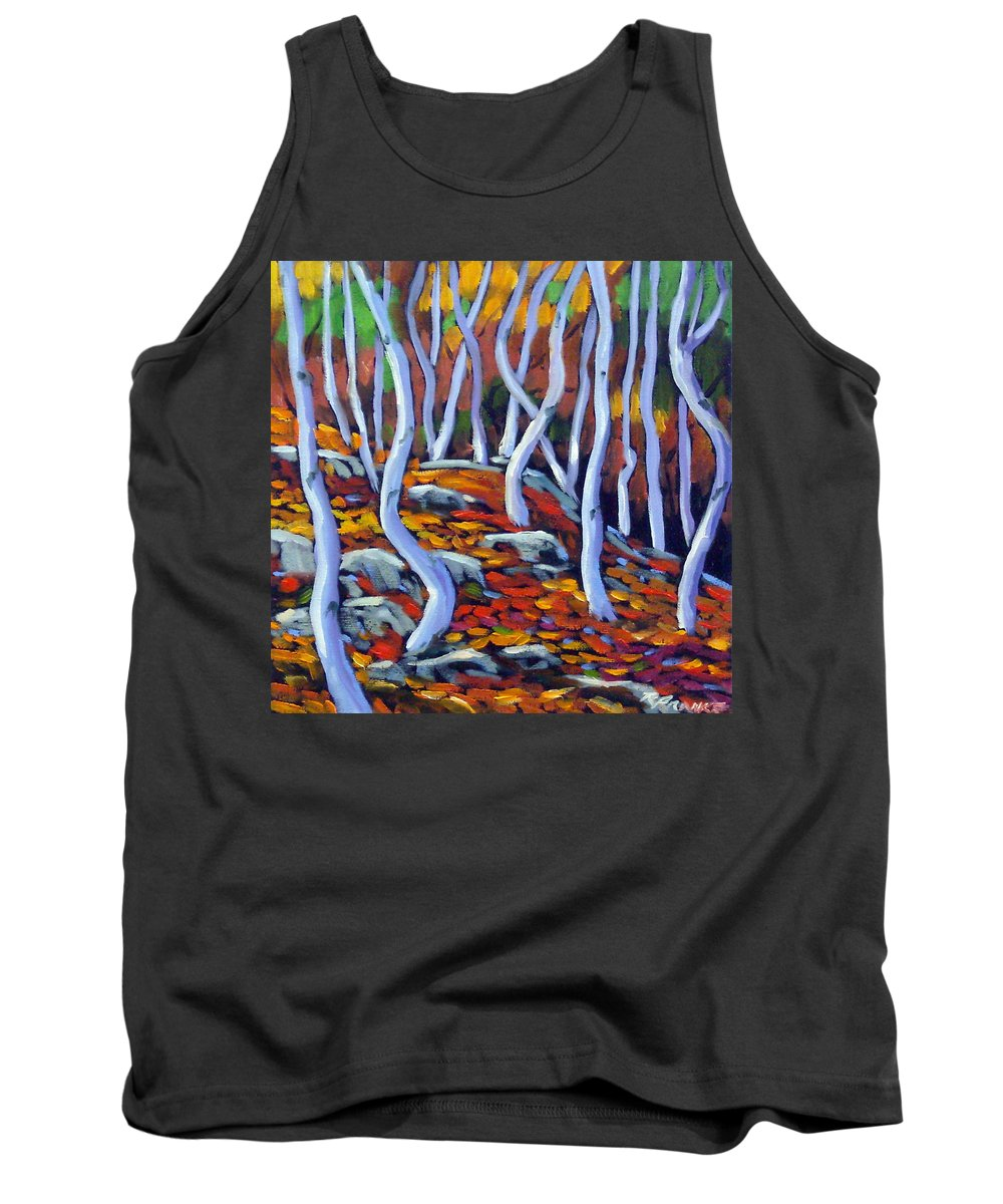 Art Tank Top featuring the painting Fantaisie No 6 by Richard T Pranke