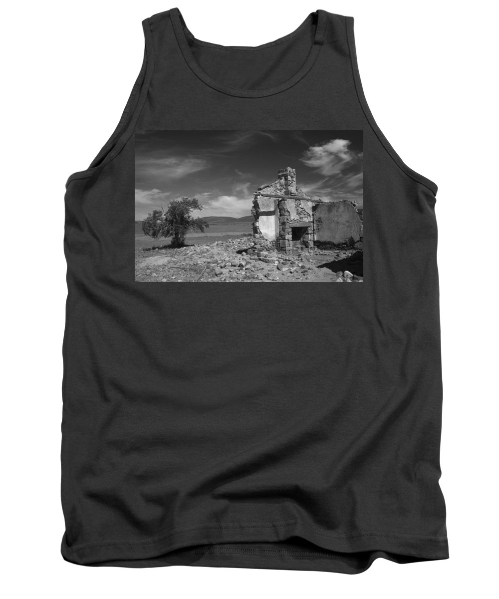 Cottage Tank Top featuring the photograph Farmhouse Cottage Ruin Flinders Ranges South Australia by Ralph A Ledergerber-Photography