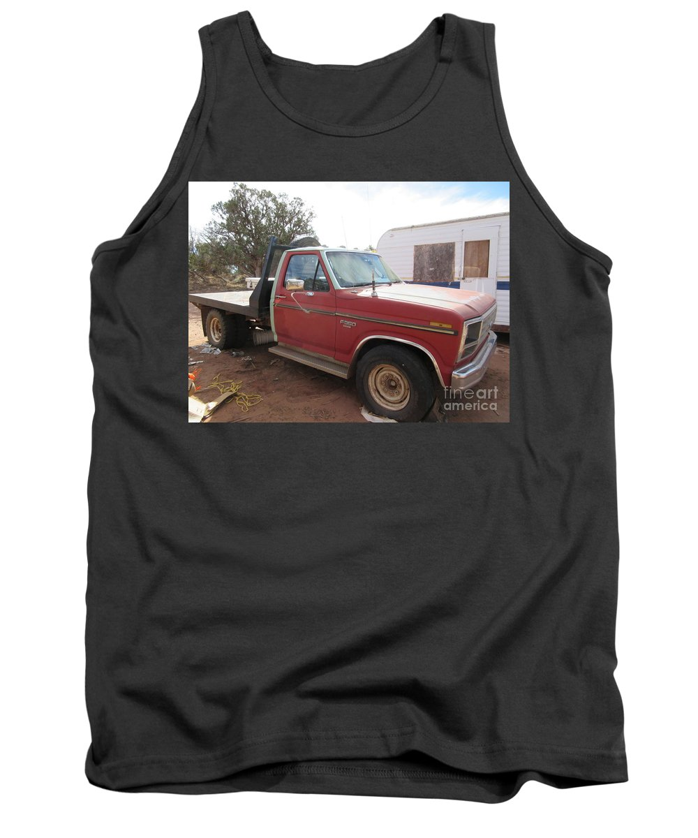 1980 Tank Top featuring the photograph Ford Truck by Frederick Holiday
