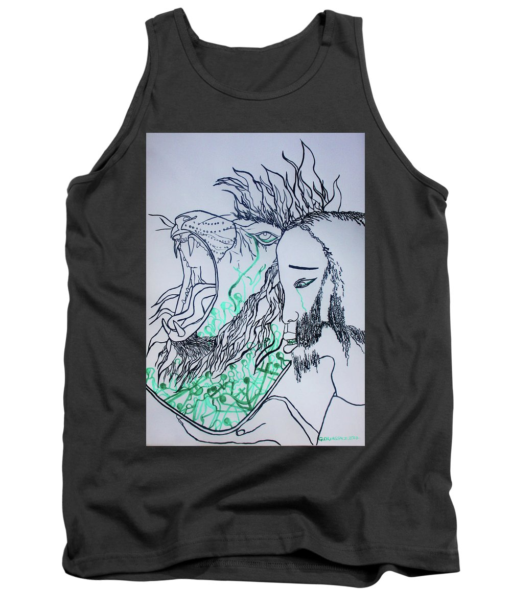 Harvest Tank Top featuring the painting Gethsemanes Promise by Gloria Ssali