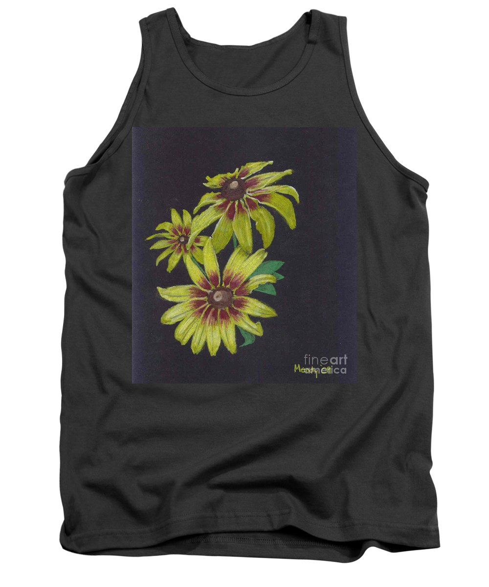 Daisy Tank Top featuring the pastel Gloriosa Daisy by Mendy Pedersen