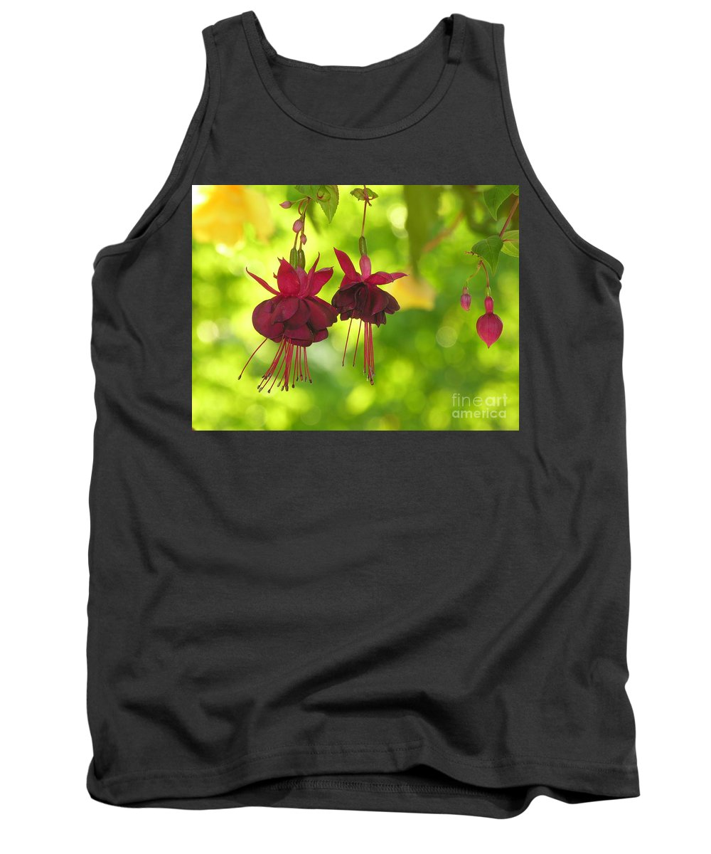 Hanging Tank Top featuring the photograph Hanging Around by Diane Greco-Lesser
