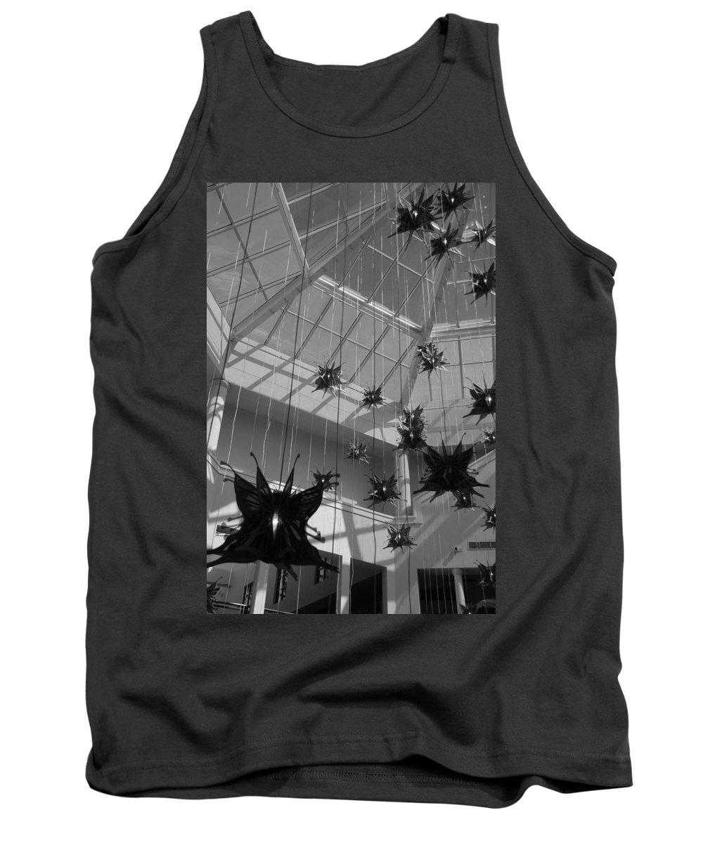 Black And White Tank Top featuring the photograph Hanging Butterflies by Rob Hans