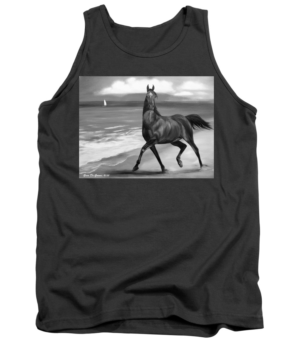 Horses Tank Top featuring the painting Horses In Paradise Dance by Gina De Gorna