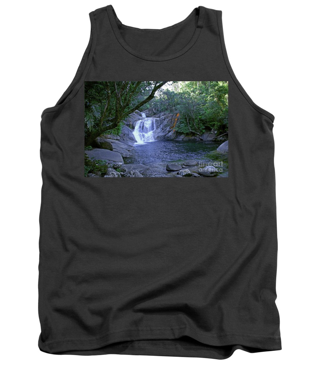 Tropical Tank Top featuring the photograph Josephine Falls And Tropical Pool by Kerryn Madsen- Pietsch
