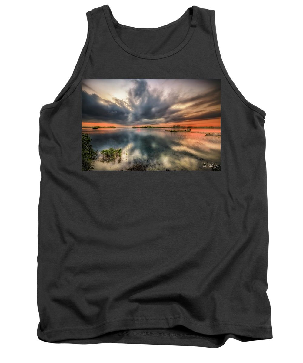 Sunrise Tank Top featuring the photograph Kayaker's Dream by Ronald Kotinsky