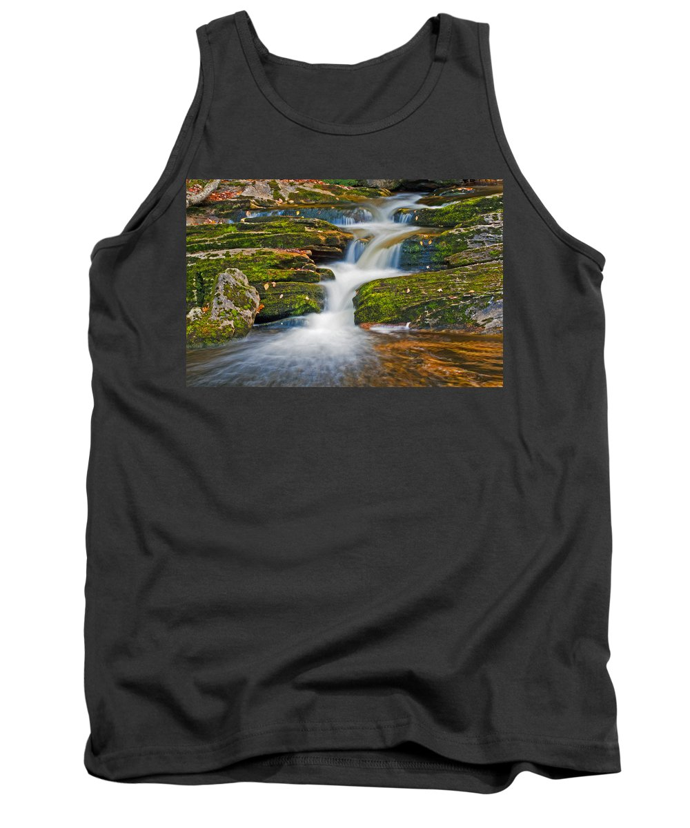 Waterfall Tank Top featuring the photograph Kent Falls by David Freuthal