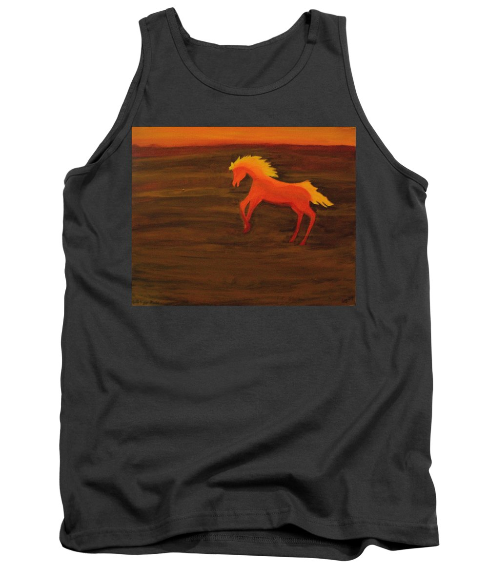 Life On Mars Tank Top featuring the painting Life On Mars by Laurette Escobar