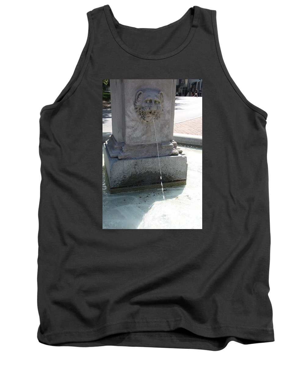 Fountain Tank Top featuring the photograph Lion Fountain by Christiane Schulze Art And Photography