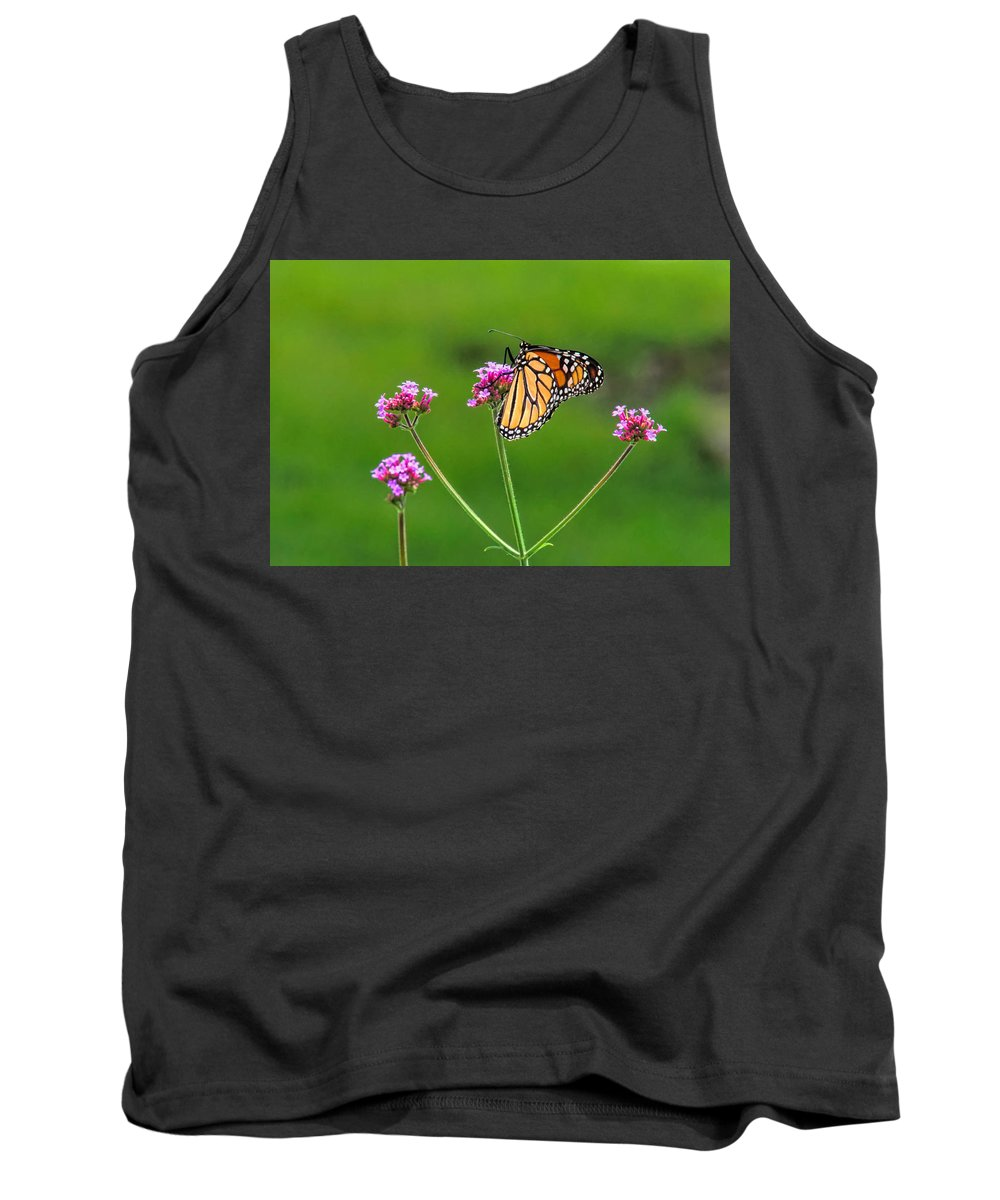 Butterfly Tank Top featuring the photograph Monarch Butterfly by Alan Hutchins