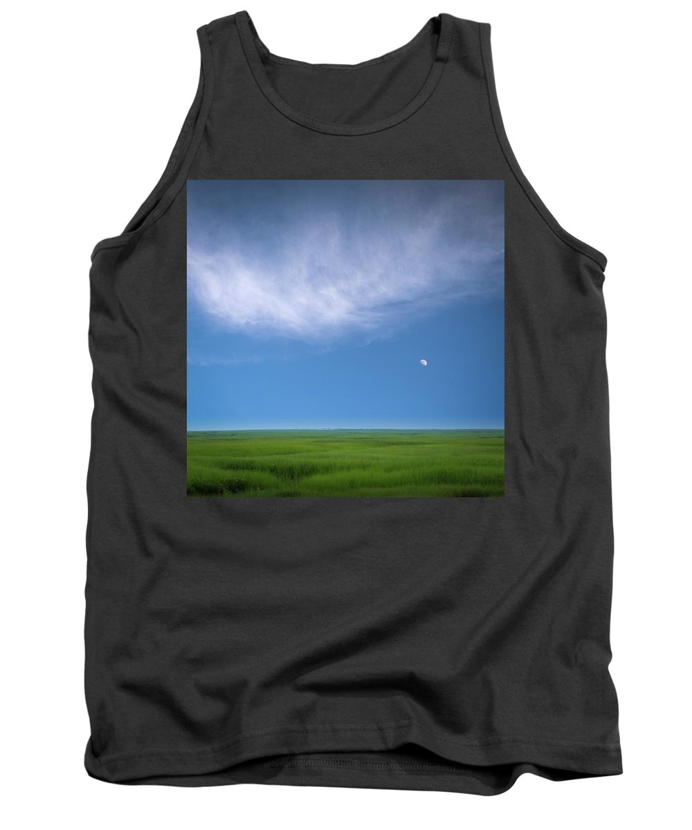 Usa Tank Top featuring the photograph Moonrise by John Whitmarsh