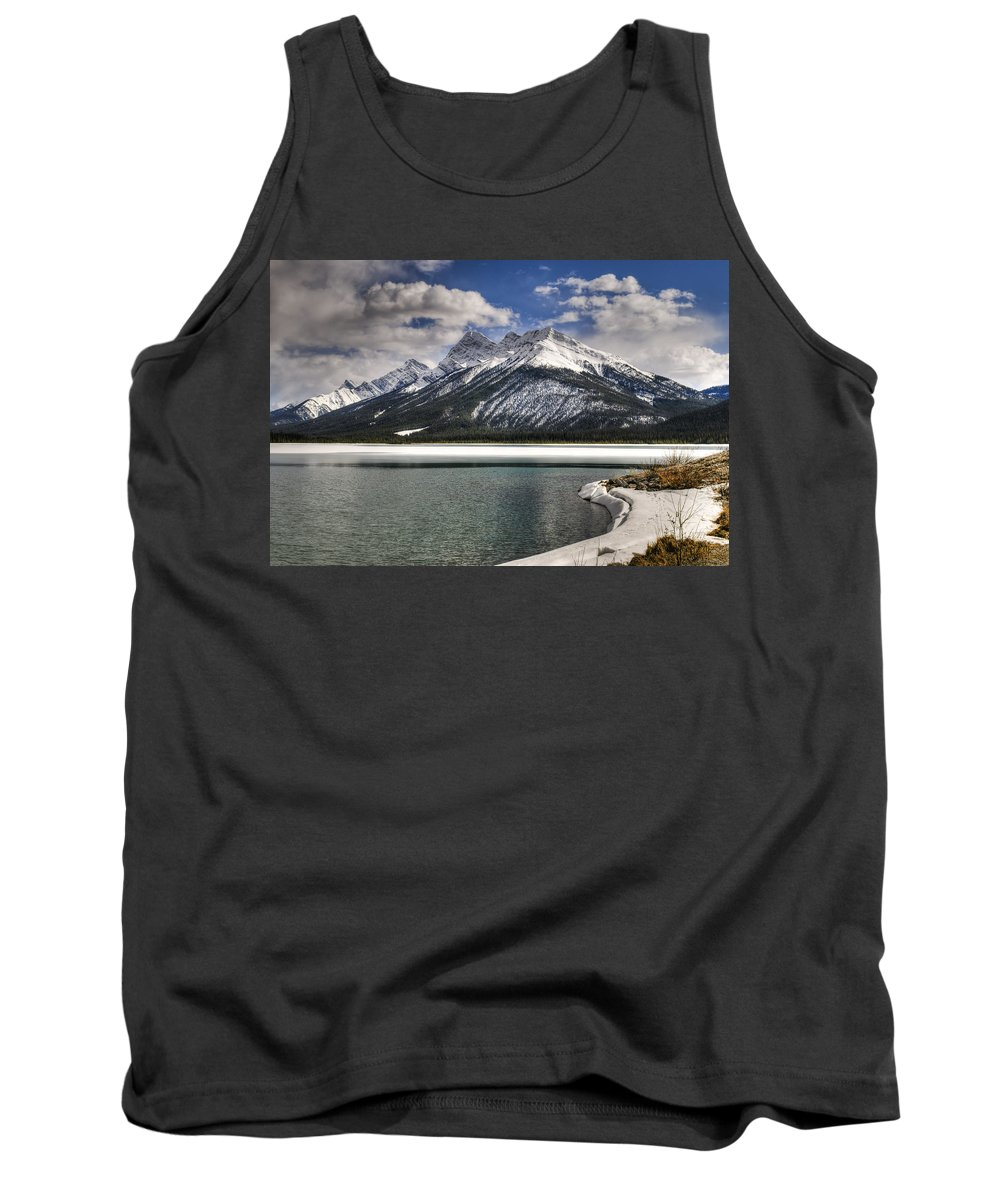 Alberta Tank Top featuring the photograph Mountain Lake by Brandon Smith