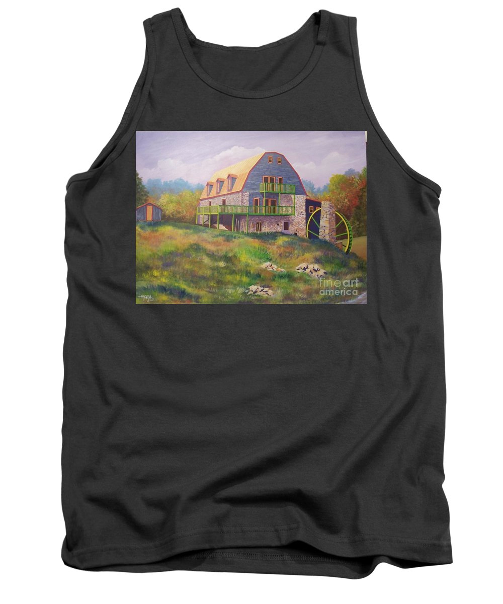 Mill Tank Top featuring the painting Mountain Mill by Hugh Harris