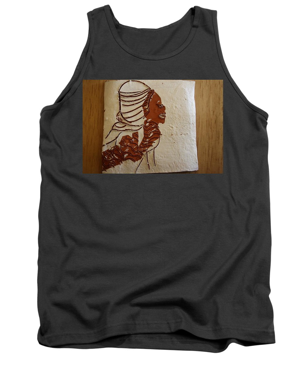 Jesus Tank Top featuring the ceramic art Mums Here - Tile by Gloria Ssali