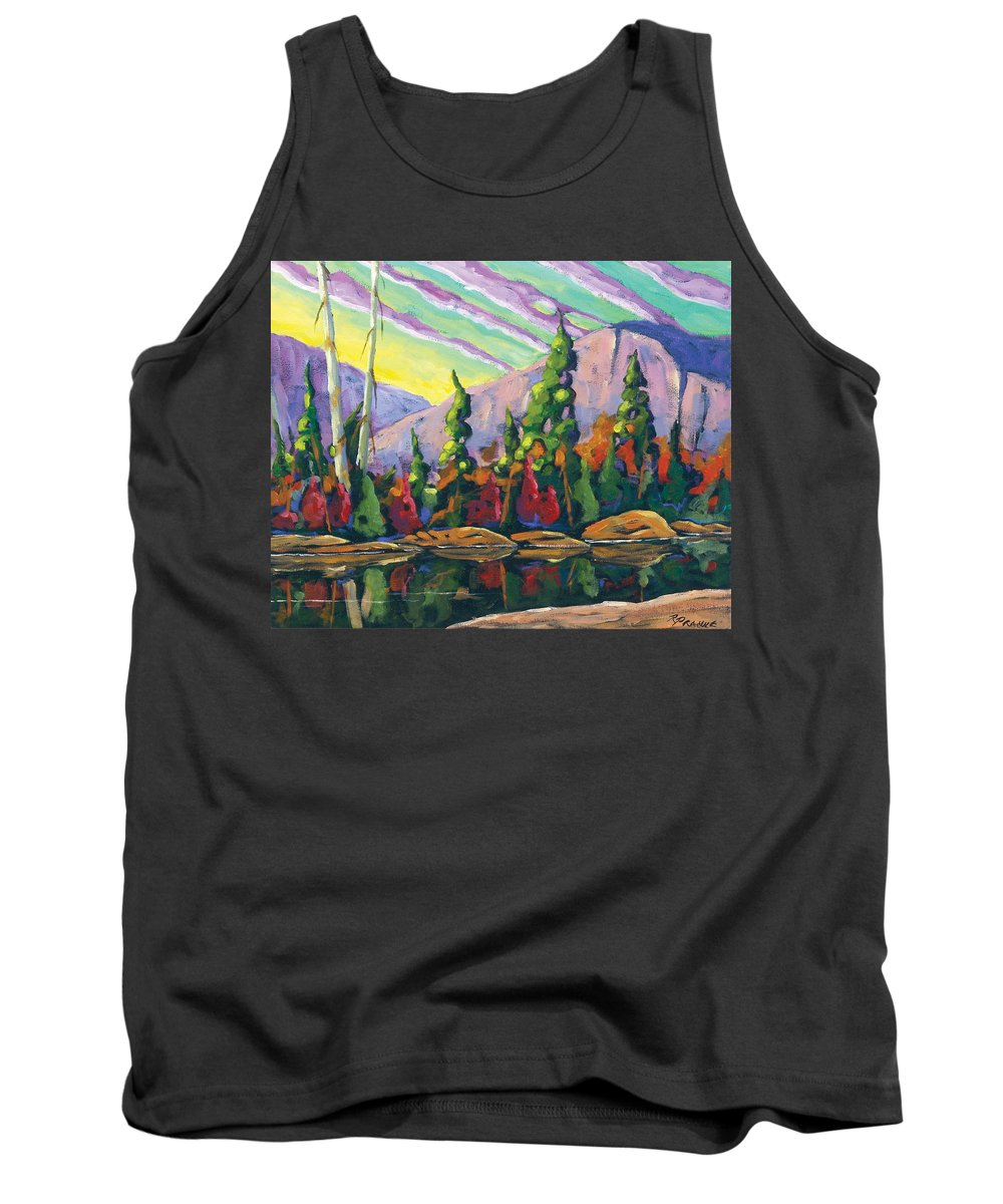Art Tank Top featuring the painting Nature Expression by Richard T Pranke