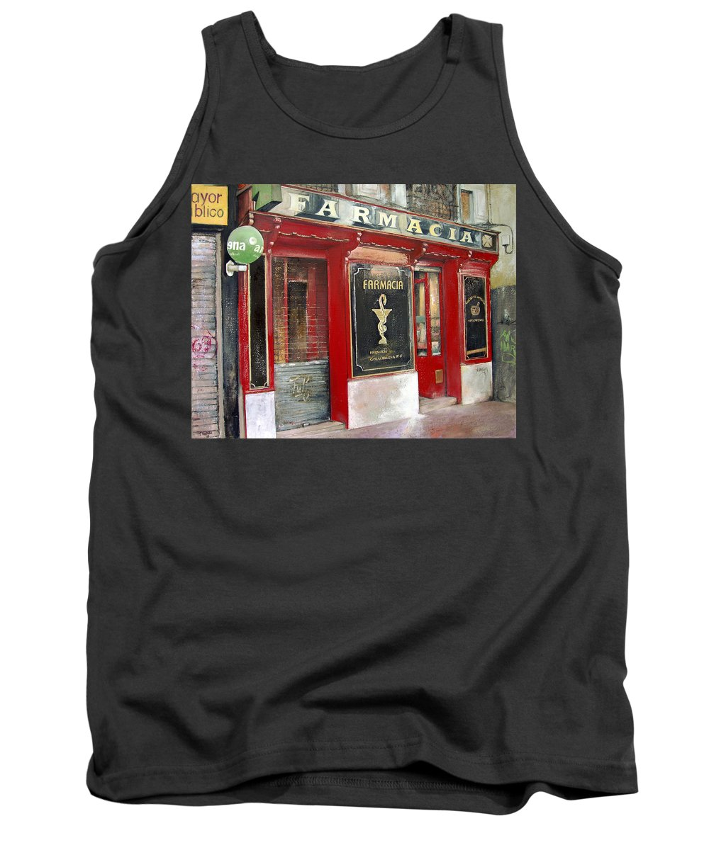 Farmacia Tank Top featuring the painting Old Pharmacy by Tomas Castano